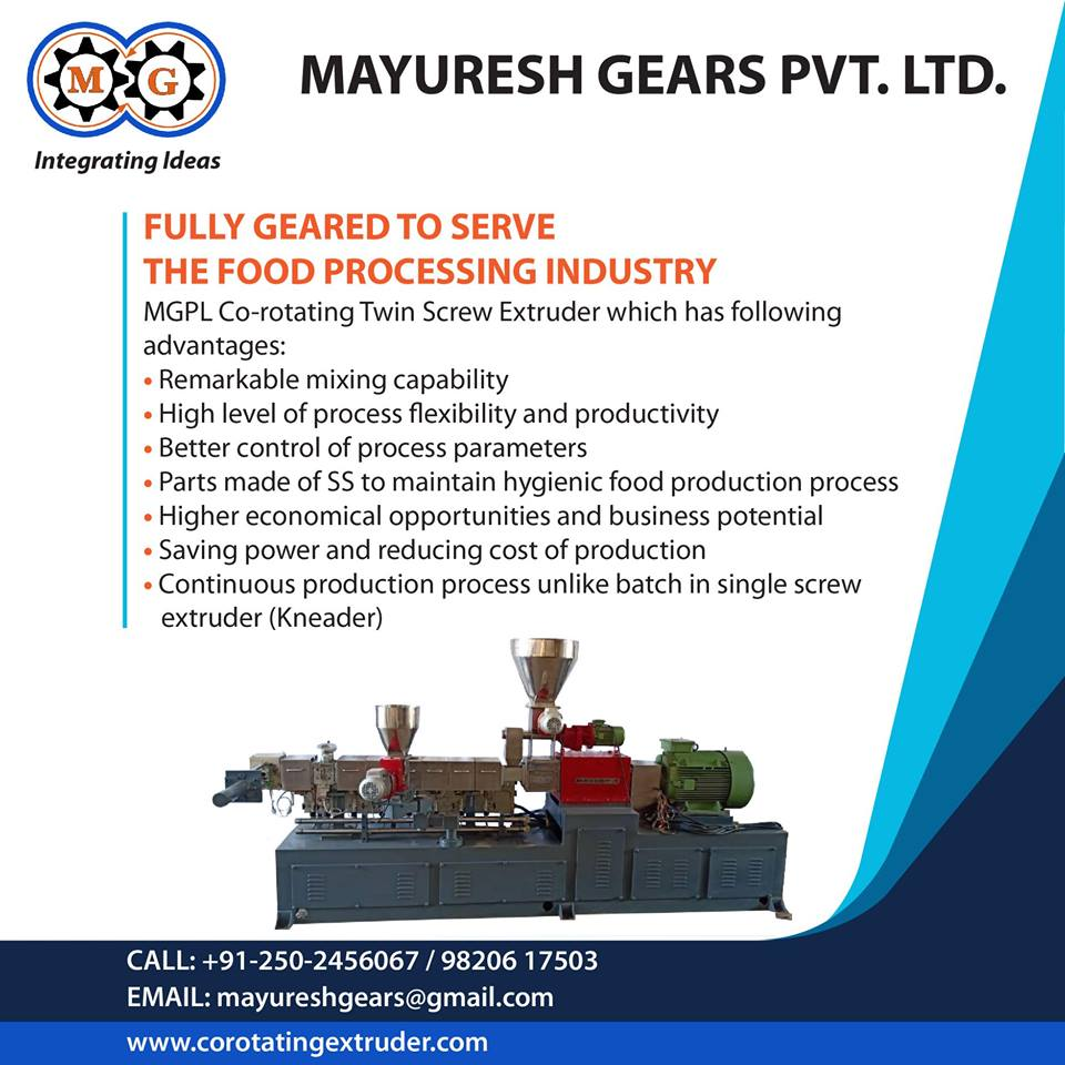 Fully Geared To Serve The Food Processing Industry