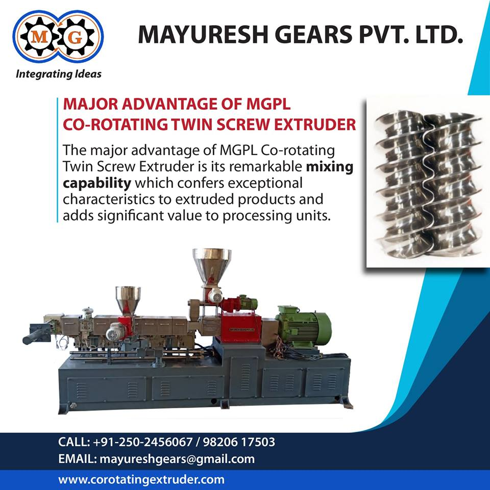 Major Advantage Of MGPL Co-Rotating Twin Screw Extruder