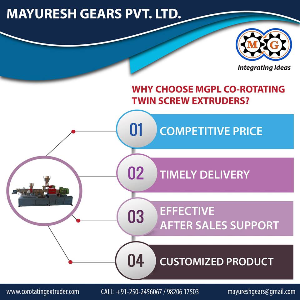 Why Choose MGPL Co-rotating Twin Screw Extruders