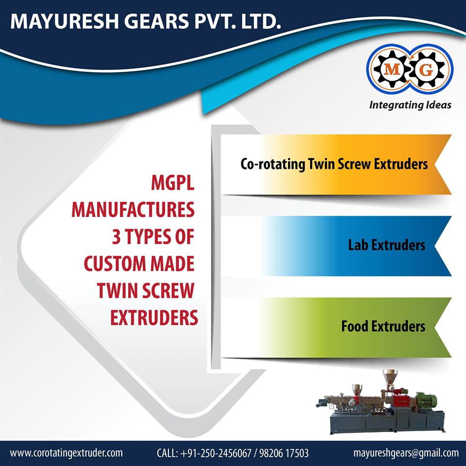 MGPL  Manufatures 3 Types of Custom Made Twin Screw Extruder
