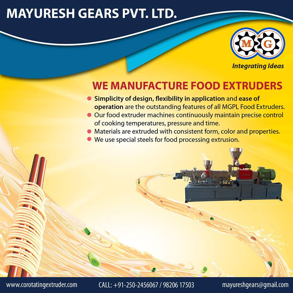 We Manufacture food  Extruders
