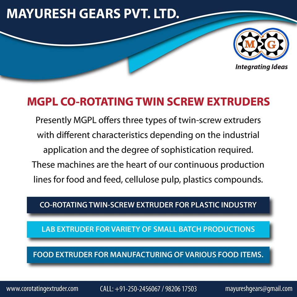 MGPL CO-ROTATING TWIN  SCREW EXTRUDERS