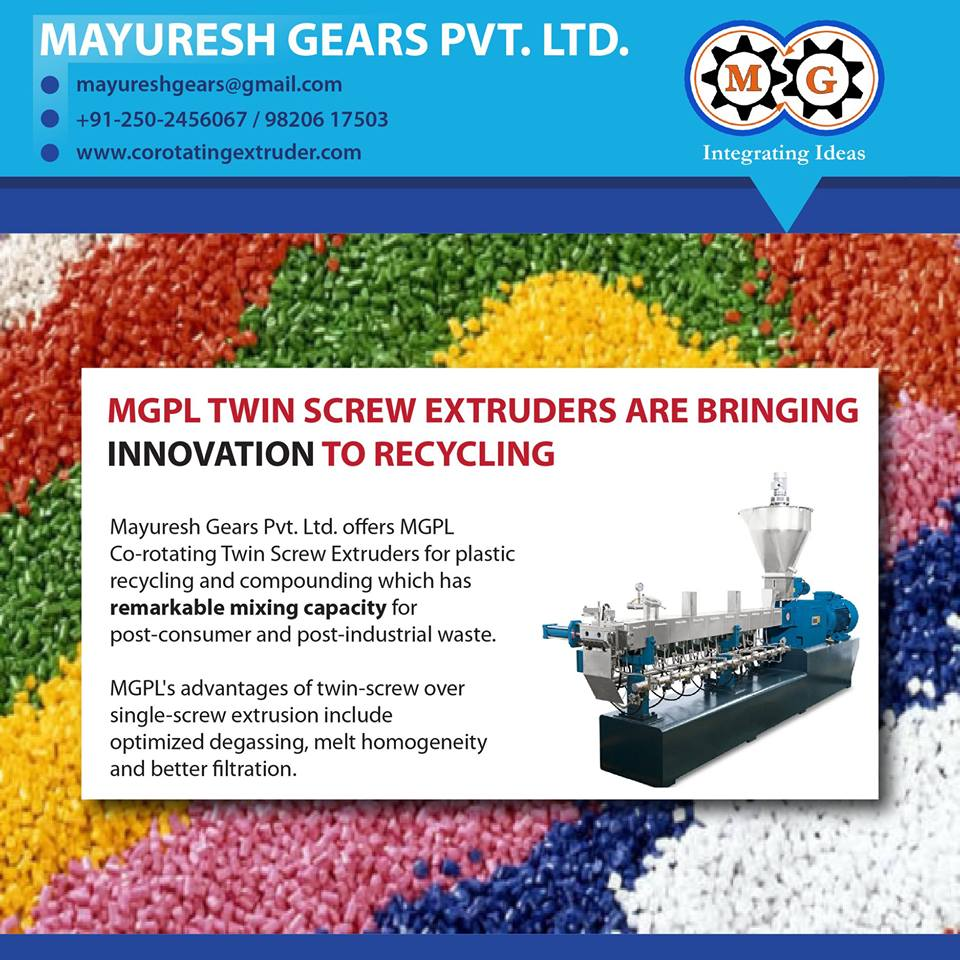MGPL TWIN SCREW EXTRUDERS ARE BRINGING INNOVATION TO RECYCLING