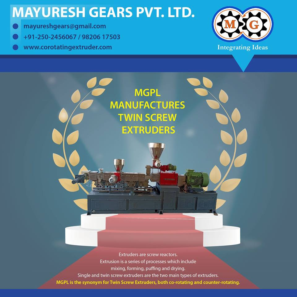 MGPL MANUFACTURES TWIN SCREW EXTRUDERS