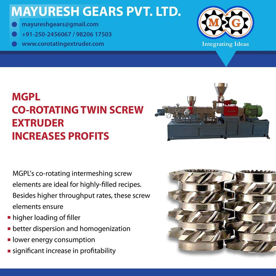 MGPL CO-ROTATING TWIN SCREW EXTRUDER INCREASES PROFITS