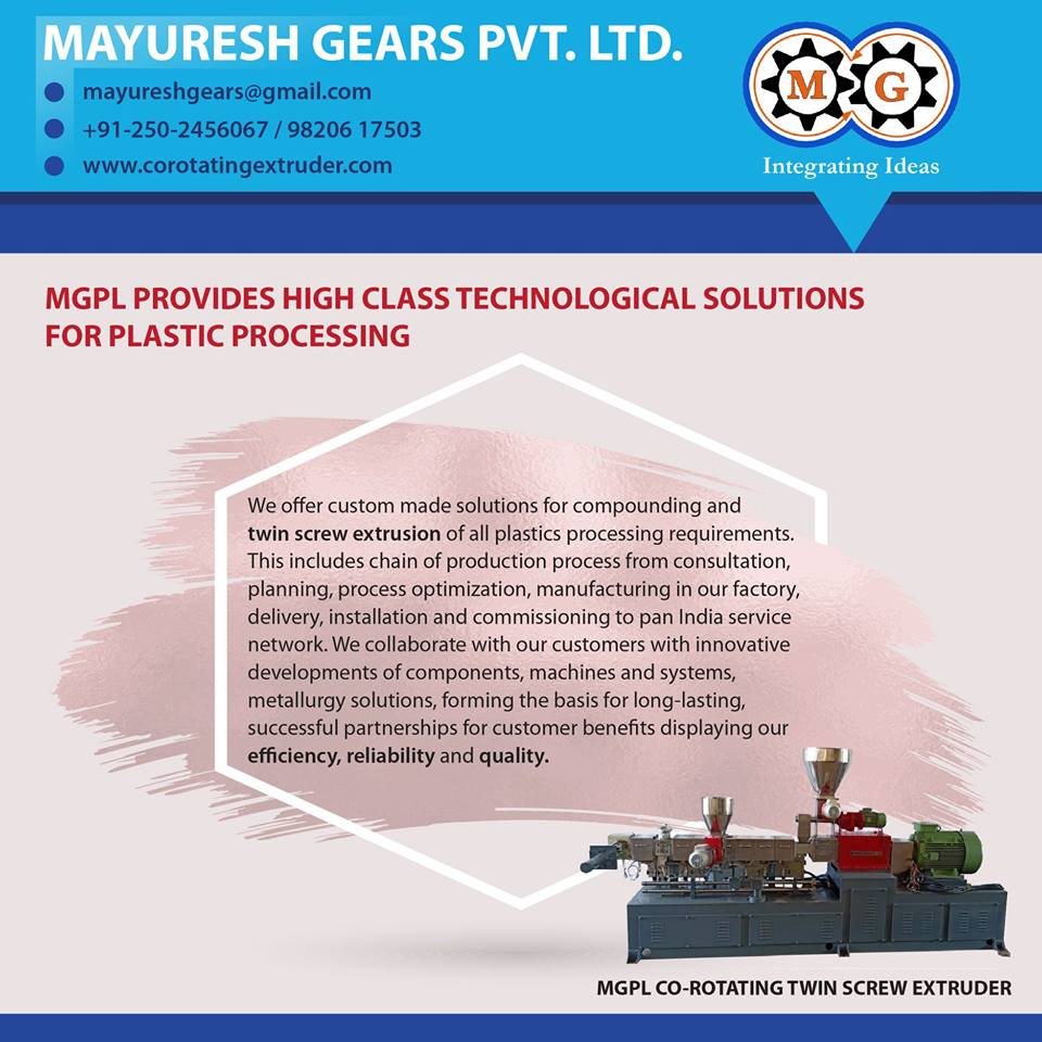 MGPL PROVIDES HIGH CLASS TECHNOLOGICAL SOLUTIONS FOR PLASTIC PROCESSING
