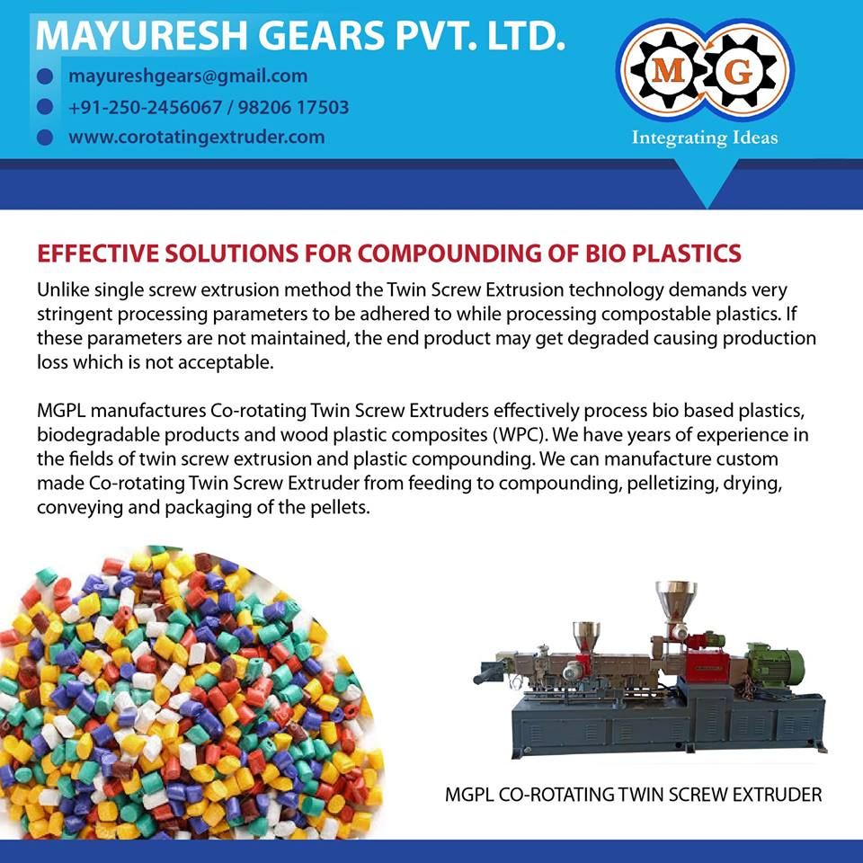 EFFECTIVE SOLUTION for COMPOUNDING of BIO PLASTICS