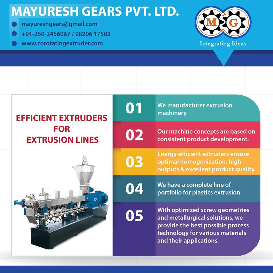 EFFICIENT EXTRUDERS FOR EXTRUSION LINES