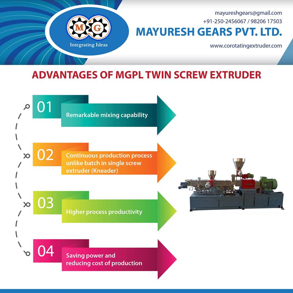 ADVANTAGES OF MGPL TWIN SCREW EXTRUDER