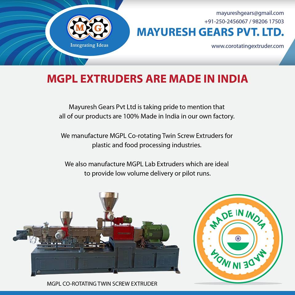 MGPL EXTRUDERS ARE MADE IN INDIA