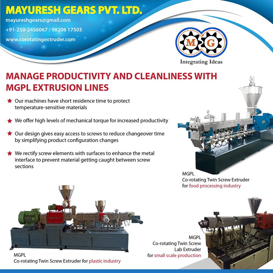 MANAGE PRODUCTIVITY AND CLEANLINESS WITH MGPL EXTRUSION LINES
