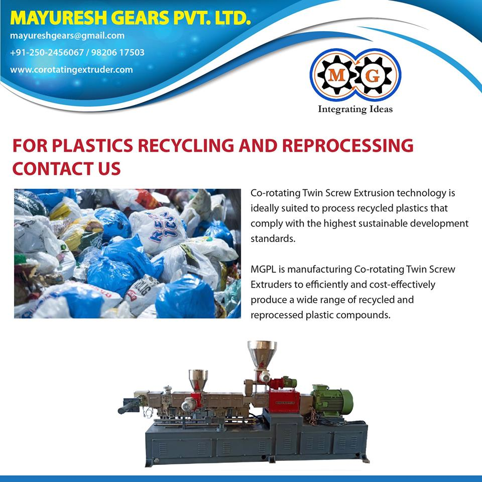 FOR PLASTICS RECYCLING AND REPROCESSING CONTACT US