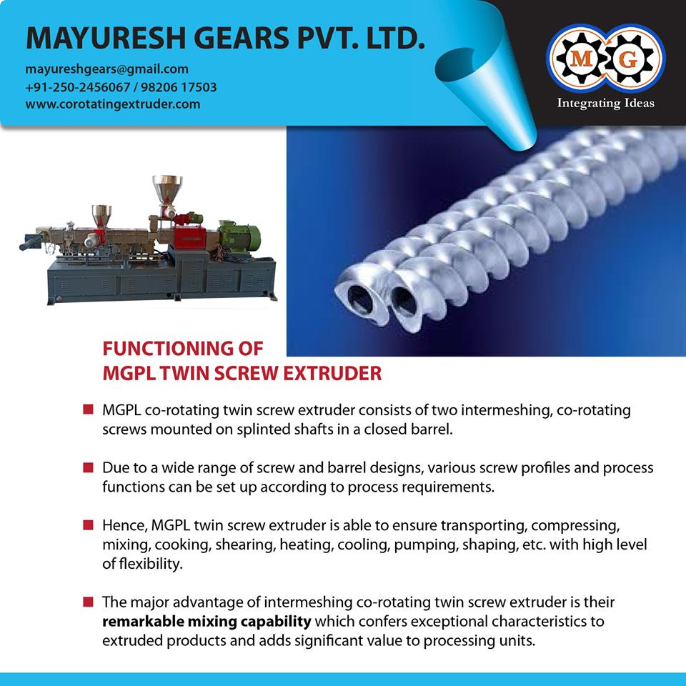 FUNCTIONING OF MGPL TWIN SCREW EXTRUDER