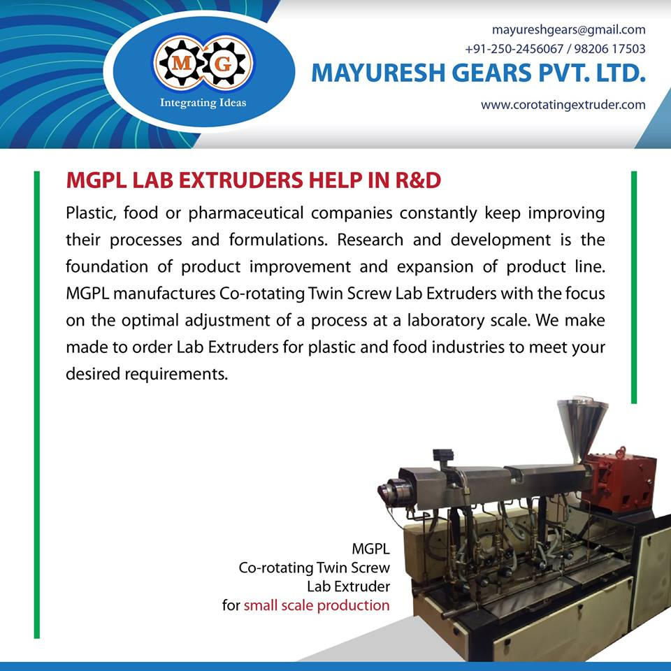 MGPL LAB EXTRUDERS HELP IN R&D