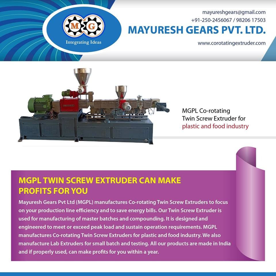 MGPL TWIN SCREW EXTRUDER CAN MAKE PROFITS FOR YOU
