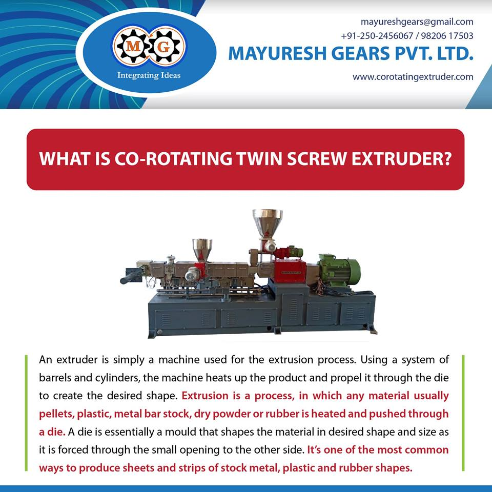 WHAT IS CO-ROTATING TWIN SCREW EXTRUDER?